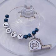 Tape Measure Personalised Wine Glass Charm